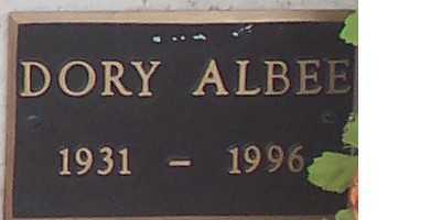 ALBEE,, DORY - Adams County, Colorado   DORY ALBEE, - Colorado Gravestone Photos