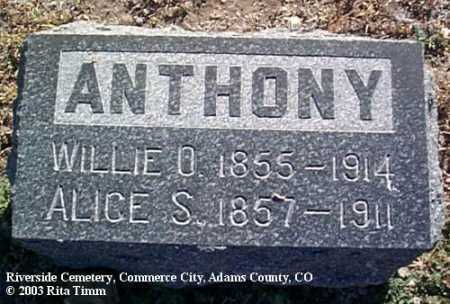 ANTHONY, ALICE S. - Adams County, Colorado   ALICE S. ANTHONY - Colorado Gravestone Photos