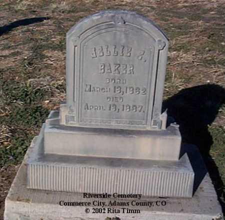 BAKER, NELLIE E. - Adams County, Colorado | NELLIE E. BAKER - Colorado Gravestone Photos