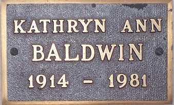 BALDWIN,, KATHRYN ANN - Adams County, Colorado | KATHRYN ANN BALDWIN, - Colorado Gravestone Photos