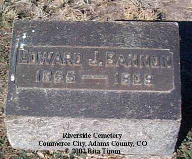 BANNON, EDWARD J. - Adams County, Colorado | EDWARD J. BANNON - Colorado Gravestone Photos
