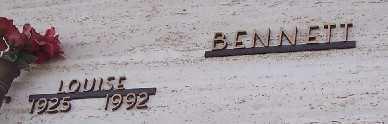 BENNETT,, LOUISE - Adams County, Colorado | LOUISE BENNETT, - Colorado Gravestone Photos