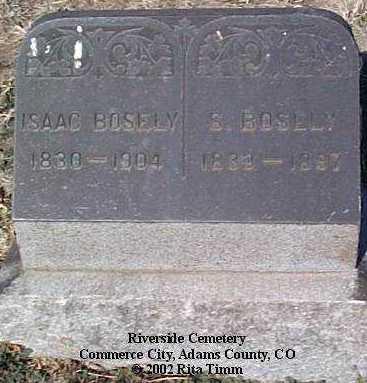 BOSLEY, ISAAC - Adams County, Colorado   ISAAC BOSLEY - Colorado Gravestone Photos