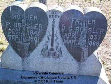 BOSSLER, J.G. - Adams County, Colorado | J.G. BOSSLER - Colorado Gravestone Photos