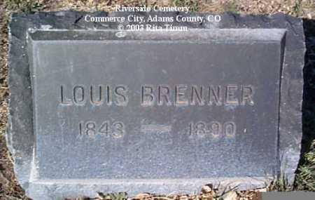 BRENNER, LOUIS - Adams County, Colorado | LOUIS BRENNER - Colorado Gravestone Photos