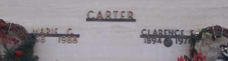 CARTER,, MARIE C. & CLARENCE E - Adams County, Colorado | MARIE C. & CLARENCE E CARTER, - Colorado Gravestone Photos