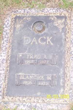 DACK,, FRED E. - Adams County, Colorado | FRED E. DACK, - Colorado Gravestone Photos