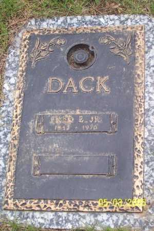 DACK, JR., FRED E. - Adams County, Colorado   FRED E. DACK, JR. - Colorado Gravestone Photos