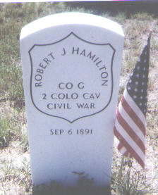 HAMILTON, ROBERT J. - Adams County, Colorado | ROBERT J. HAMILTON - Colorado Gravestone Photos