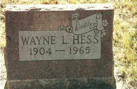 HESS, WAYNE LEONARD - Adams County, Colorado | WAYNE LEONARD HESS - Colorado Gravestone Photos