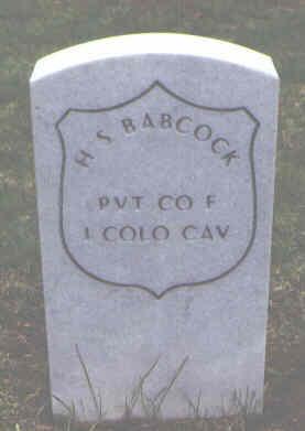 BABCOCK, H. S. - Alamosa County, Colorado | H. S. BABCOCK - Colorado Gravestone Photos