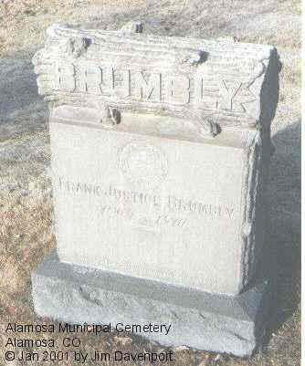 BRUMBLY, FRANK JUSTICE - Alamosa County, Colorado | FRANK JUSTICE BRUMBLY - Colorado Gravestone Photos