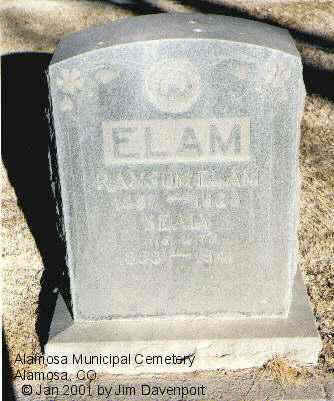 ELAM, SEALY - Alamosa County, Colorado | SEALY ELAM - Colorado Gravestone Photos