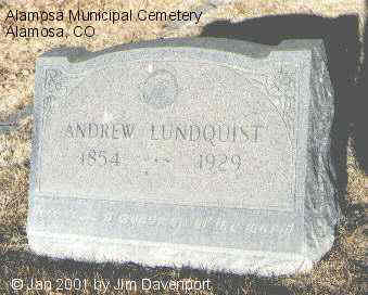 LUNDQUIST, ANDREW - Alamosa County, Colorado | ANDREW LUNDQUIST - Colorado Gravestone Photos
