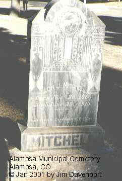 MITCHELL, LON J. - Alamosa County, Colorado | LON J. MITCHELL - Colorado Gravestone Photos