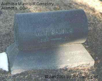 SIMONS, W. F. - Alamosa County, Colorado | W. F. SIMONS - Colorado Gravestone Photos