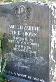 BROWN, JAMI ELIZABETH - Arapahoe County, Colorado | JAMI ELIZABETH BROWN - Colorado Gravestone Photos