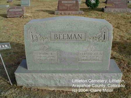 BEEMAN, ELIZABETH B. - Arapahoe County, Colorado | ELIZABETH B. BEEMAN - Colorado Gravestone Photos