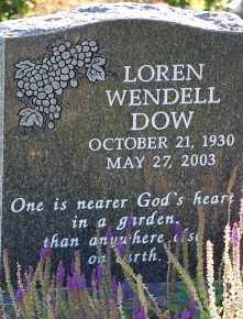 DOW, LOREN WENDELL - Arapahoe County, Colorado   LOREN WENDELL DOW - Colorado Gravestone Photos