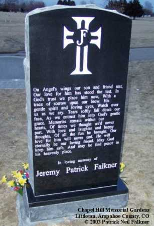 FALKNER, JEREMY PATRICK - Arapahoe County, Colorado | JEREMY PATRICK FALKNER - Colorado Gravestone Photos