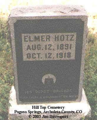 HOLTZ, ELMER - Archuleta County, Colorado | ELMER HOLTZ - Colorado Gravestone Photos