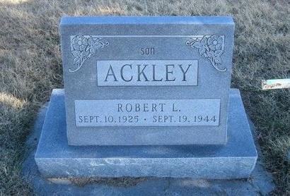 ACKLEY, ROBERT L - Baca County, Colorado | ROBERT L ACKLEY - Colorado Gravestone Photos