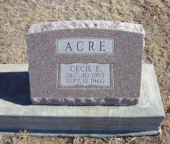 ACRE, CECIL E - Baca County, Colorado | CECIL E ACRE - Colorado Gravestone Photos