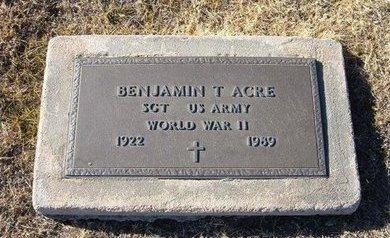 ACRE, SR (VETERAN WWII), BENJAMIN THOMAS - Baca County, Colorado   BENJAMIN THOMAS ACRE, SR (VETERAN WWII) - Colorado Gravestone Photos