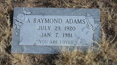 ADAMS, A RAYMOND - Baca County, Colorado | A RAYMOND ADAMS - Colorado Gravestone Photos