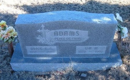 "ADAMS, WILLIAM MARCELLIS ""BILL"" - Baca County, Colorado 