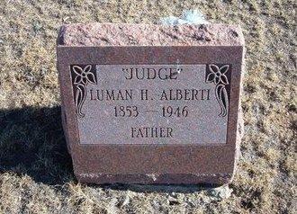 """ALBERTI, LUMAN H """"JUDGE"""" - Baca County, Colorado   LUMAN H """"JUDGE"""" ALBERTI - Colorado Gravestone Photos"""