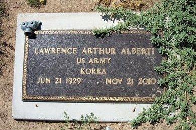 ALBERTI (VETERAN KOR), LAWRENCE ARTHUR - Baca County, Colorado | LAWRENCE ARTHUR ALBERTI (VETERAN KOR) - Colorado Gravestone Photos