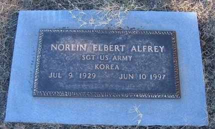 ALFREY (VETERAN KOR), NORLIN ELBERT - Baca County, Colorado | NORLIN ELBERT ALFREY (VETERAN KOR) - Colorado Gravestone Photos