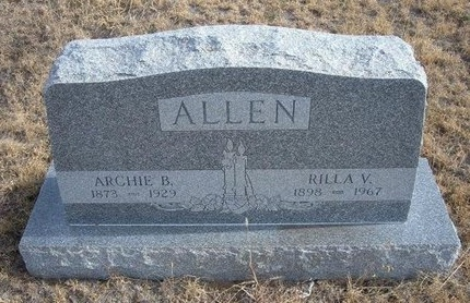 ALLEN, RILLA V - Baca County, Colorado | RILLA V ALLEN - Colorado Gravestone Photos
