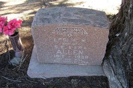 ALLEN, LESLIE NELSON - Baca County, Colorado | LESLIE NELSON ALLEN - Colorado Gravestone Photos