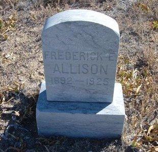 ALLISON, FREDERICK E - Baca County, Colorado | FREDERICK E ALLISON - Colorado Gravestone Photos