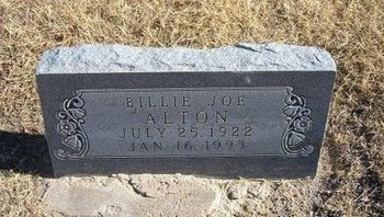 ALTON, BILLIE JOE - Baca County, Colorado | BILLIE JOE ALTON - Colorado Gravestone Photos