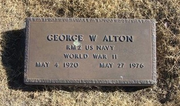 ALTON (VETERAN WWII), GEORGE W - Baca County, Colorado | GEORGE W ALTON (VETERAN WWII) - Colorado Gravestone Photos