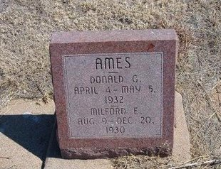 AMES, DONALD G - Baca County, Colorado   DONALD G AMES - Colorado Gravestone Photos