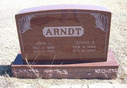 ARNDT, JOHN A - Baca County, Colorado | JOHN A ARNDT - Colorado Gravestone Photos
