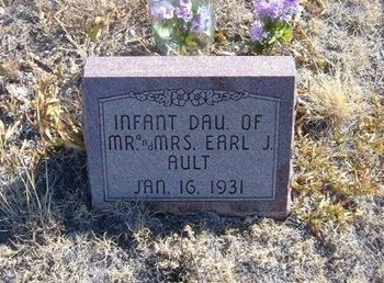 AULT, INFANT DAUGHTER - Baca County, Colorado   INFANT DAUGHTER AULT - Colorado Gravestone Photos