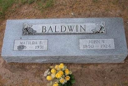 BALDWIN, MATILDA E - Baca County, Colorado | MATILDA E BALDWIN - Colorado Gravestone Photos
