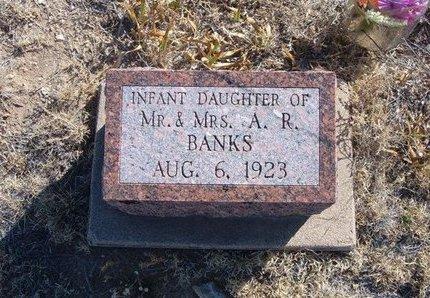BANKS, INFANT DAUGHTER - Baca County, Colorado   INFANT DAUGHTER BANKS - Colorado Gravestone Photos