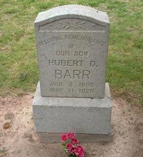 BARR, HUBERT D - Baca County, Colorado   HUBERT D BARR - Colorado Gravestone Photos
