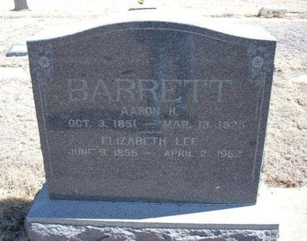 BARRETT, ELIZABETH LEE - Baca County, Colorado | ELIZABETH LEE BARRETT - Colorado Gravestone Photos