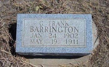 BARRINGTON, G FRANK - Baca County, Colorado | G FRANK BARRINGTON - Colorado Gravestone Photos