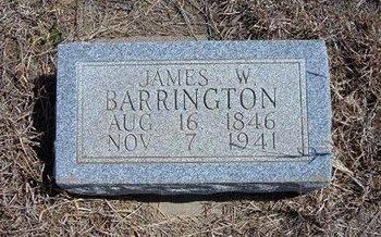 BARRINGTON, JAMES W - Baca County, Colorado | JAMES W BARRINGTON - Colorado Gravestone Photos