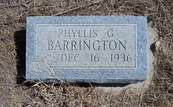 BARRINGTON, PHYLLIS G - Baca County, Colorado | PHYLLIS G BARRINGTON - Colorado Gravestone Photos