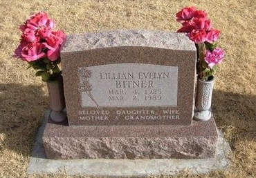 BITNER, LILLIAN EVELYN - Baca County, Colorado | LILLIAN EVELYN BITNER - Colorado Gravestone Photos