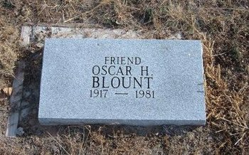 BLOUNT, OSCAR H - Baca County, Colorado | OSCAR H BLOUNT - Colorado Gravestone Photos
